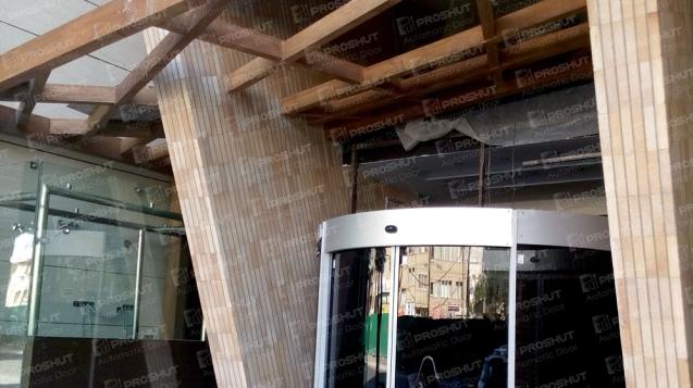 پروژه درب اتوماتیک منحمی ساختمان فدک
