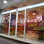 درب اتوماتیک شیشهای پروشاتدُر پیتزا سارا